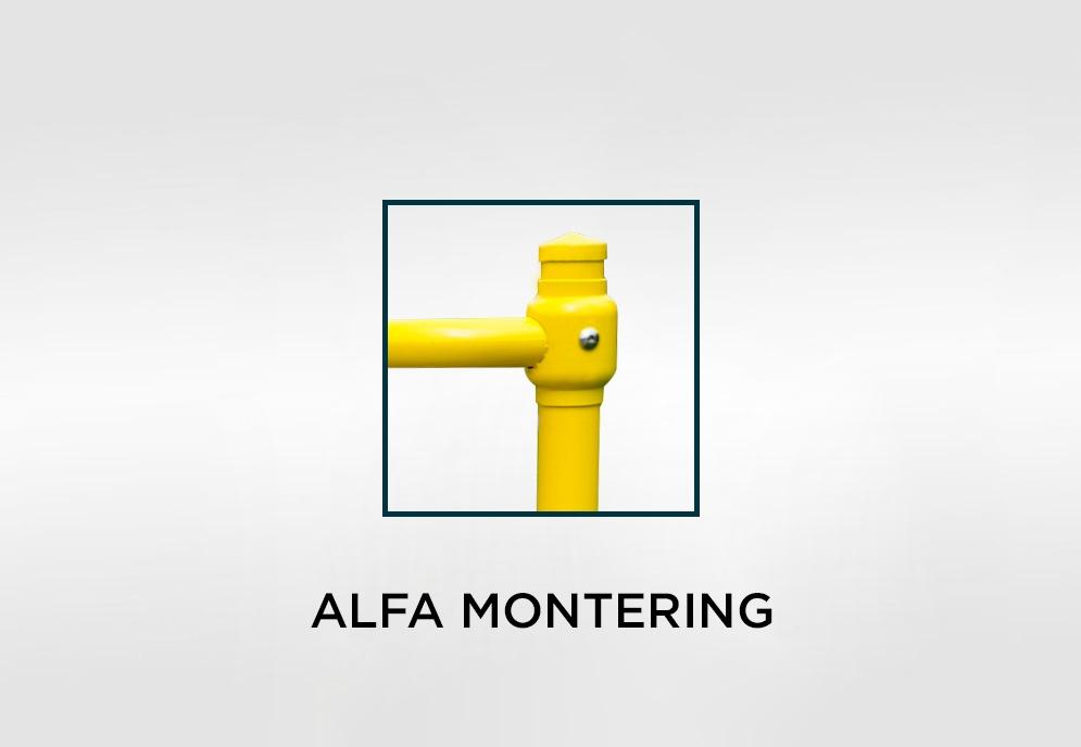 räcke alfa montering